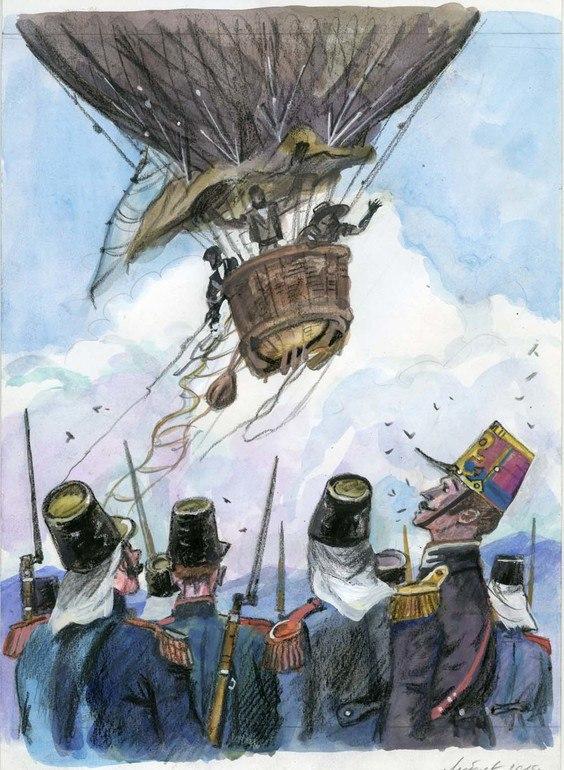 Краткое содержание книги Жюль Верна «Пять недель на воздушном шаре»на сайте booksonline